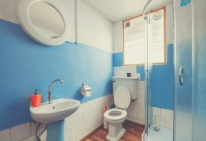 Bathroom With Toilet and Faucet Sink