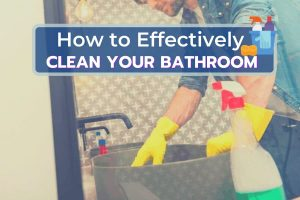 Men Cleaning the Bathroom