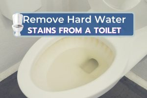 Hard Water Stains on Toilet