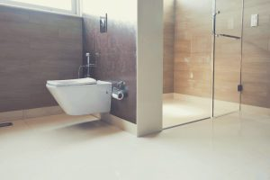 Modern Bathroom With Wall Hung Toilet