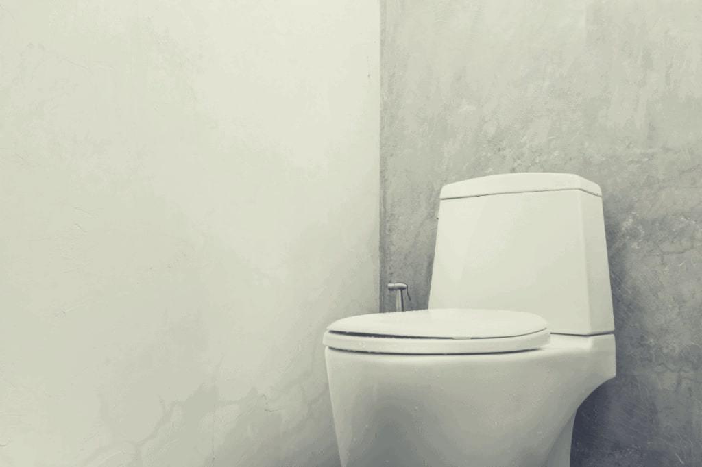 Minimal Bathroom with Modern Toilet