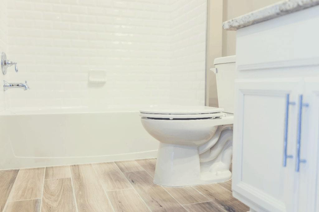 Bathroom with a Kohler Toilet
