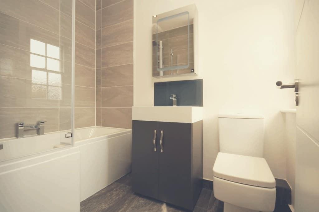Modern Bathroom With A Toilet