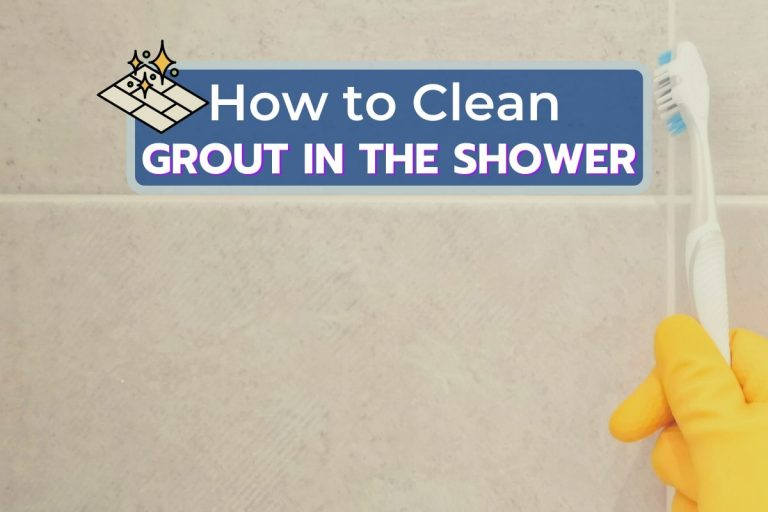 Cleaning Shower Grout with Toothbrush