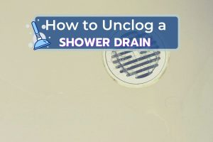 Shower Drain Clogged with Hair Scum